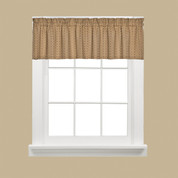 Hopscotch kitchen curtain valance - Tan