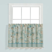 "High Tide 24"" tier (pr) kitchen curtain"