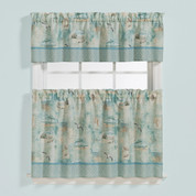High Tide Kitchen Curtain