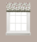 Cheerful Trimmings Christmas kitchen curtain valance