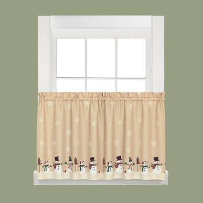 snowman magic kitchen curtain 36 quot tier