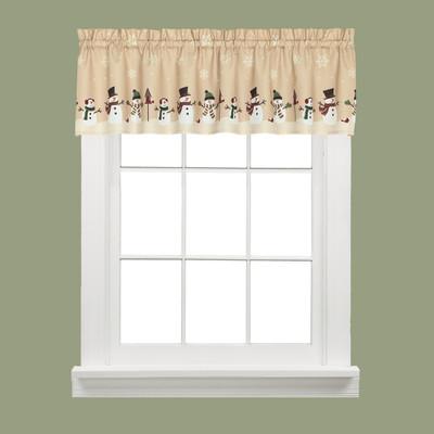 Snowman Magic Christmas Kitchen Curtain Valance