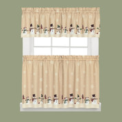 Snowman Magic Christmas Kitchen Curtains