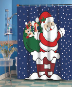 Christmas Up on the Roof Shower Curtain