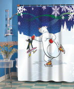 Christmas Ice Dancer Shower Curtain