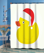 Christmas Rubber Ducky Shower Curtain