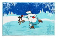 Christmas Ice Dancer Bath Rug