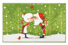 Christmas Kissing Claus Bath Rug