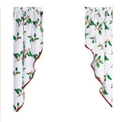 Deck the Halls Christmas kitchen curtain swag (pr)