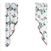 Deck the Halls Christmas kitchen curtain swag (pr)