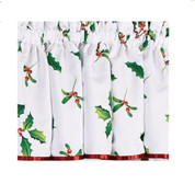 Deck the Halls Christmas kitchen curtain valance