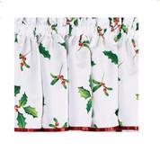 Deck the Halls Christmas kitchen curtain valance