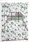 Deck the Halls Christmas Kitchen Curtain