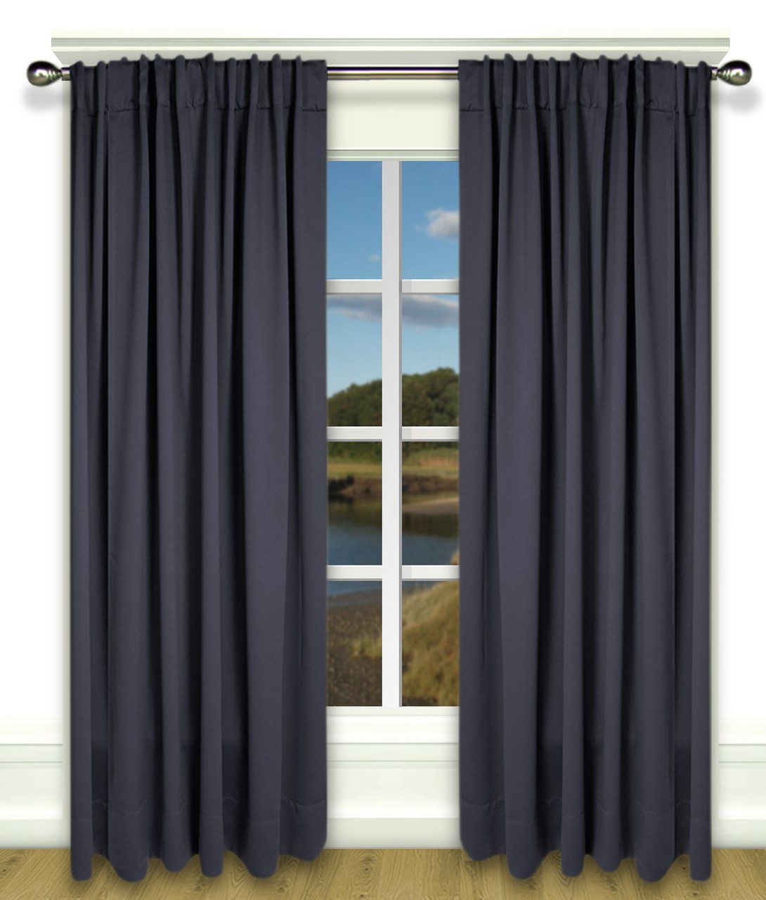 Ultimate Blackout Rod Pocket Curtains Available In 7