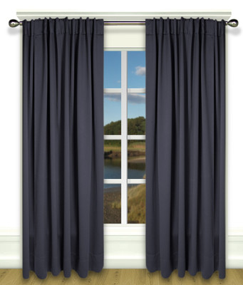 Ultimate Blackout Rod Pocket Curtains blue
