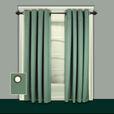 Grand Pointe Grommet Top Curtains green