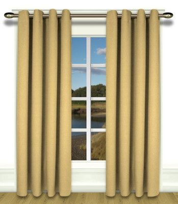 Glasgow Grommet Top Curtains gold leaf