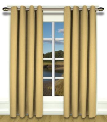Glasgow Grommet Top Curtains Gold Leaf