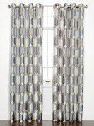Felix Printed Grommet Top Curtain Panel - Pewter