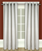 Grasscloth Lined Grommet Top Curtain Panel - Parchment