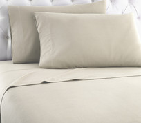 Micro Flannel Solid Sheet Set Taupe from Shavel