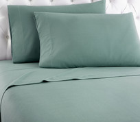 Micro Flannel Solid Sheet Set from Shavel - Spruce Green