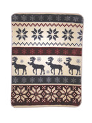 Reindeer Stripe Blanket Throw from Shavel