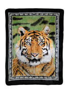 Tiger Portrait Blanket Throw from Shavel