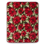 Poinsettia Christmas Blanket Throw from Shavel