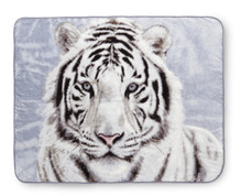 White Tiger Blanket Throw from Shavel