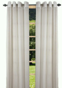 Bal Harbour Semi-Sheer Grommet Top Curtain Panel - Ivory