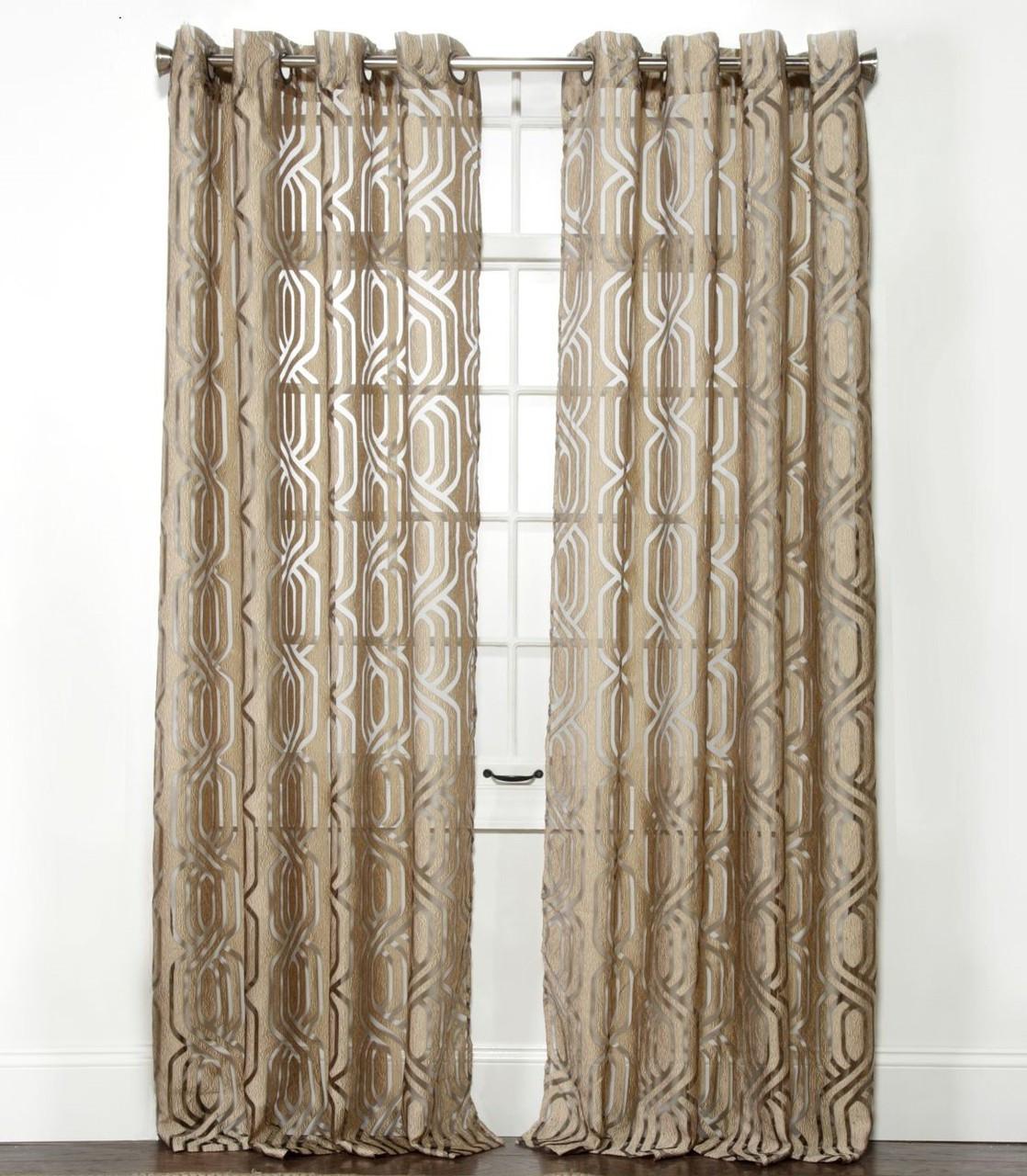 Argos Grommet Top Curtain Panel - Brass - Linens4Less.com