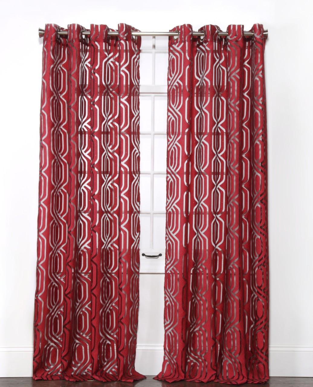 Argos Grommet Top Curtain Panel Crimson