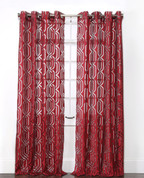 Argos Grommet Top Curtain Panel - Crimson