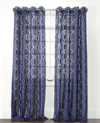 Argos Grommet Top Curtain Panel - Indigo