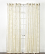 Argos Grommet Top Curtain Panel - Ivory