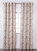 Wisteria Embroidered Grommet Top Curtain Panel - Ivory from Belle Maison