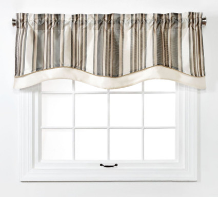 Maxton Layered Lined Valance - Stone from Belle Maison