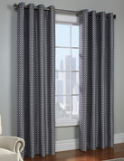 Belgard Grommet Top Curtain Panel - Black from Commonwealth