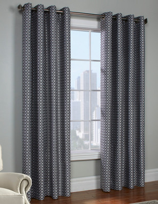 Belgard Grommet Top Curtain Panel - Black from Commonwealth