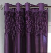 Emmanuel Grommet Top Curtain Panel - Purple from Commonwealth