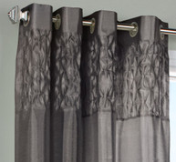 Emmanuel Grommet Top Curtain Panel - Pewter from Commonwealth