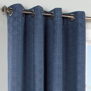 Irongate Grommet Top Curtain Panel - Navy