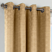 Irongate Grommet Top Curtain Panel - Stone