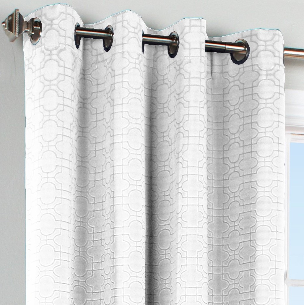 Irongate Grommet Top Curtain Panel White