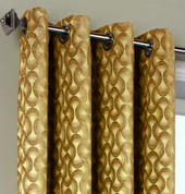 Rope Chenille Grommet Top Curtain Panel - Citrine from Commonwealth