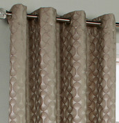Rope Chenille Grommet Top Curtain Panel - Taupe