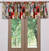 Rustic Lodge valance from Greenland