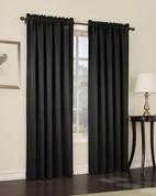 Althea Blackout Rod Pocket Curtains - black from Lichtenberg Sun Zero