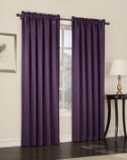 Althea Blackout Rod Pocket Curtains - Plum from Lichtenberg Sun Zero